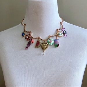 Betsey Johnson Boardwalk Sweets Charm Necklace